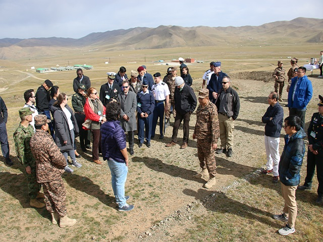 2018 RESF participants visit the Shar Khad training area in Mongolia